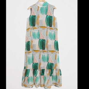 ISO Anthropologie Vallea Flounced Maxi Dress
